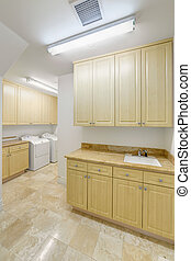Laundry room in an luxury apartment