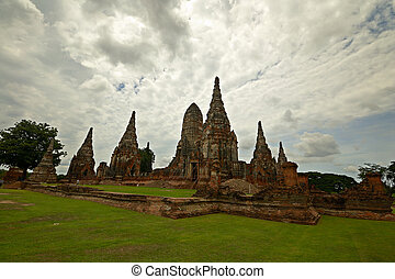 Ancient city of Ayuthaya - ancient temple complex in...