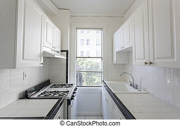Clean kitchen in an apartment