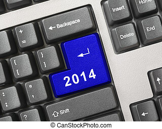 Computer keyboard with 2014 key
