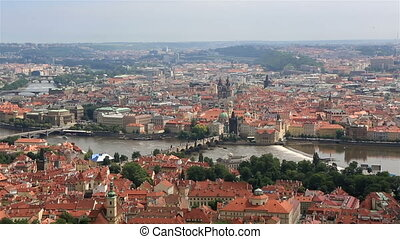 Charles Bridge View from the Petrin Lookout Tower