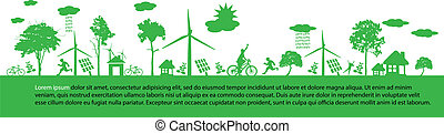 Print - green earth - sustainable development concept