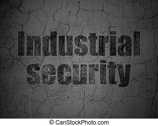 Safety concept: Industrial Security on grunge wall background