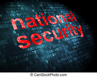 Privacy concept: National Security on digital background -...