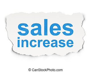 Advertising concept: Sales Increase on Paper background