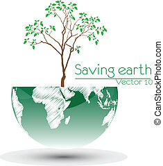 Save the earth.Vector illustration