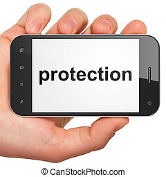 Security concept: Protection on smartphone