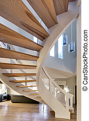 Stair ways in a luxury house - A stair ways in a luxury...