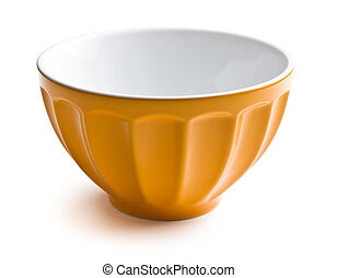 ceramic bowl - empty ceramic bowl on white background