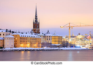Gamla Stan Old Town Stockholm - Cityscape of Gamla Stan Old...