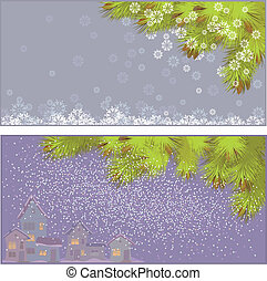 vector illustration of New Year's backgrounds - vector...