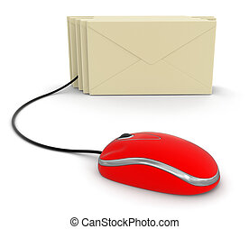 Letters and Computer Mouse