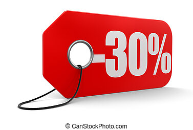 Label with -30%  - Label with -30%. Image with clipping path