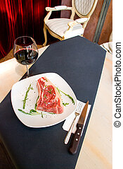 fillet Mignon steak at restaurant. - A gourmet fillet Mignon...