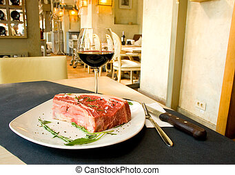 fillet Mignon steak at restaurant - Best cut of beef fillet...