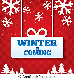 Winter is coming sale background.