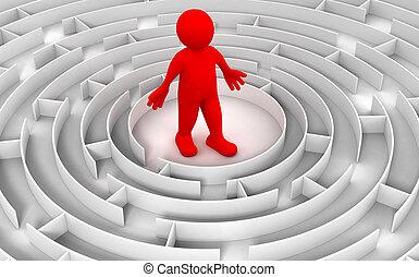 Maze to Man - Man in maze.