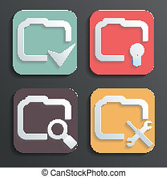 Vector Design folder icons for Web and Mobile