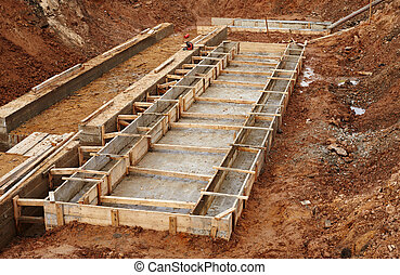 Construction of an industrial building foundation pit -...