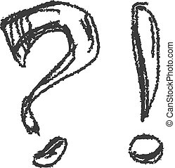 question mark, exclamation mark vector eps8 - question mark...