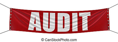 audit banner - Large audit banner with fabric surface...