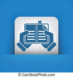 Book read icon