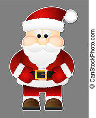 Santa Claus isolated on a grey background.