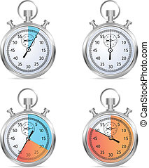 Stopwatch set vector illustraion