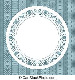 Elegant doily on lace background