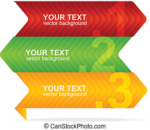 Vector colorful text box 1,2,3 concept - Vector colorful...