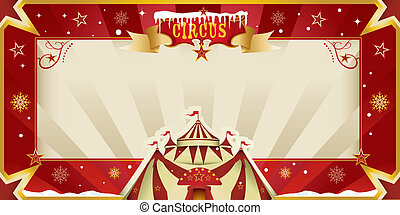 Fantastic christmas circus invitati - A greeting circus card...