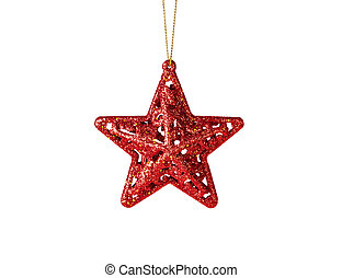 christmas decoration. Red star