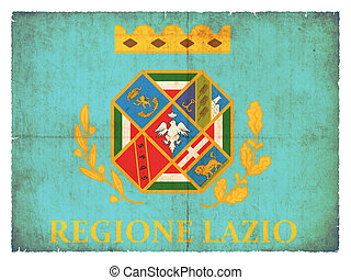 Grunge flag of Latium Italy - Flag of the italien region...