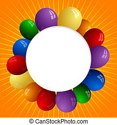Abstract sunny background with color balloons