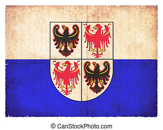Grunge flag of Trentino-Alto Adige (Italy) - Flag of the...