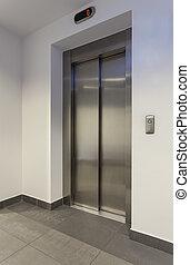 Lift - Door of lift in a modern building, vertical