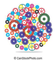 Vector clockwork gears