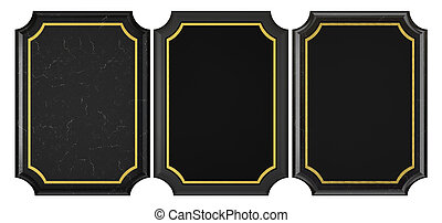 Black Marble and Plastic Plaque Collection
