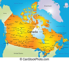 Canada - vector map of Canada country
