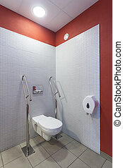 Toilet for disabled - Toilet for a disabled people, modern...