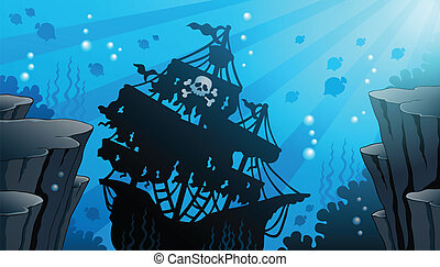 Shipwreck theme image 1 - eps10 vector illustration