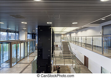 Office building - Interior of a new modern office building
