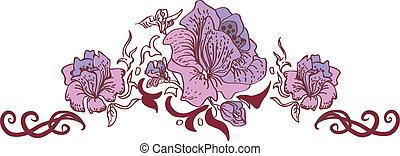 Flower style ornament