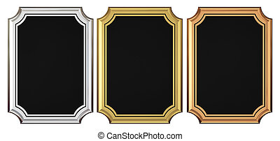 Gold - Silver - Bronze Plaque Collection