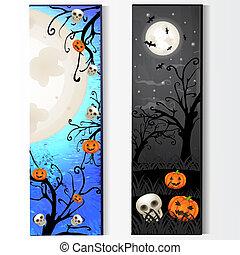 dia das bruxas, esqueleto, cartão