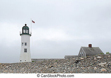 The historic Scituate Light was built in 1811 and is the...