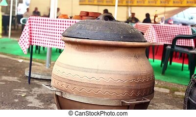 Cooking in ceramic pots - On big events food is need to be...