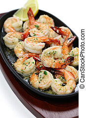 shrimp scampi sauteed in garlic butter, american food