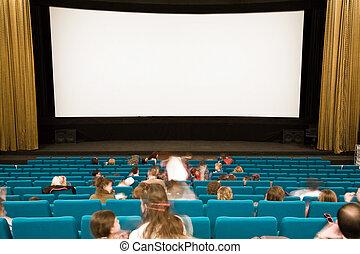 人々, 映画館, 講堂