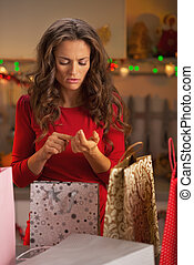 Young woman in christmas preparations